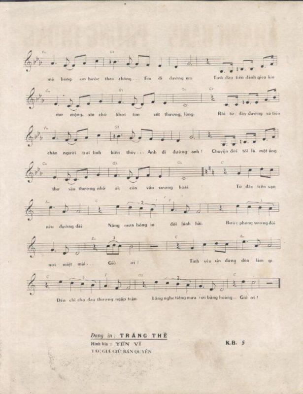 Sheet nhạc bài hát tiếng mưa rơi 2