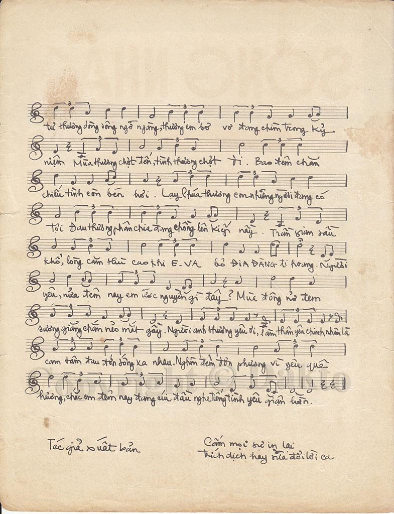 Sheet nhạc bài hát trái cấm 2